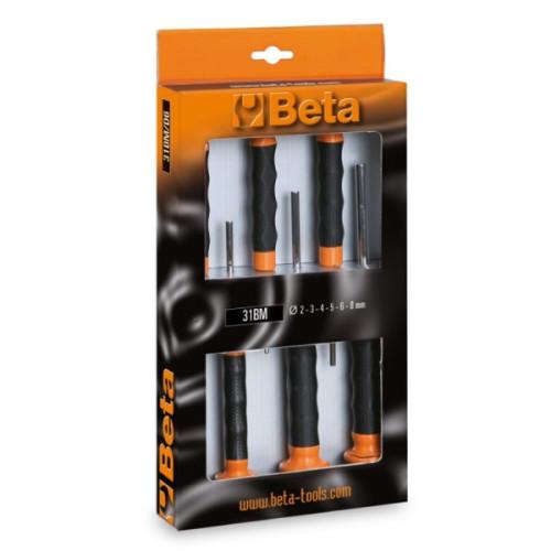 Jogo de 6 saca-troços com punho BETA 31BM/D6