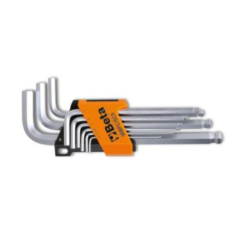 Jogo de 9 chaves macho sextavadas com uma extremidade esférica BETA 98BPC/SC9