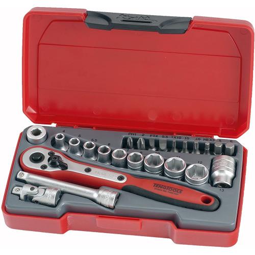 """Jogo 24 peças 1/4""""  Teng Tools T1424"""