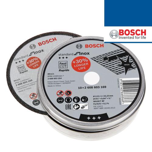 Caixa metálica disco Corte Inox 125x1mm 10 Unid. BOSCH