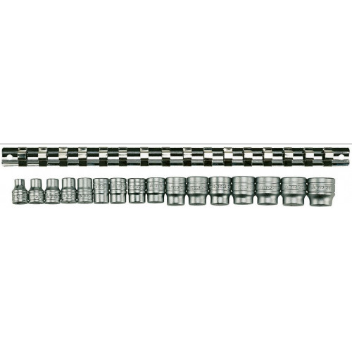 "Jogo chaves 3/8"" hexagonais 6pt  7 - 22mm Teng Tools M3816"