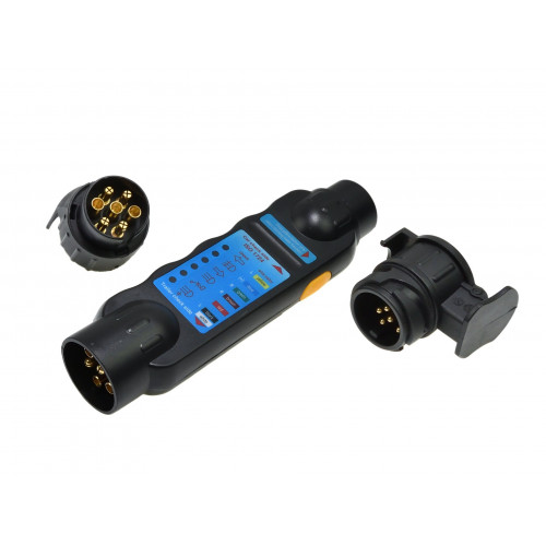 Teste de Luzes para o Reboque com Leds + adaptador 13/7 7/13